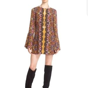 Free People Gold Multi 'Ossie Vibes Tunic